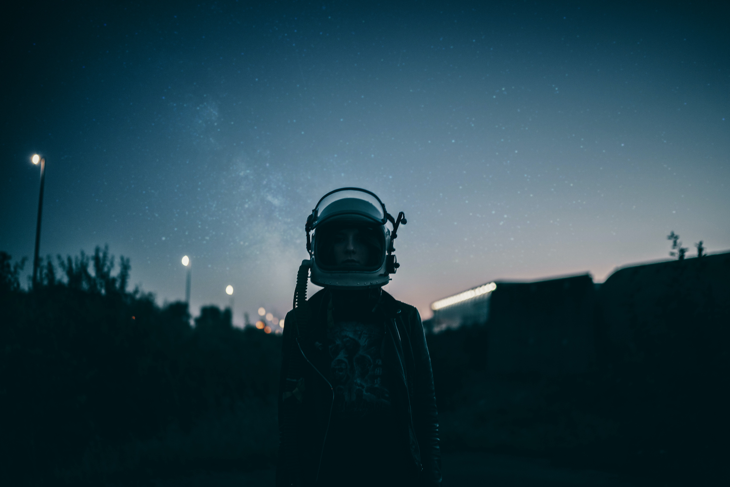 spacegirl, girl with-helmet, night, stars, galaxy, astronaut, cosmonaut, cosmoticgirl